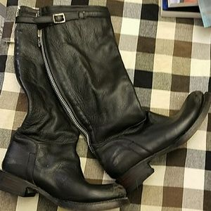 Ash Destroyer Black Leather Boots sz 37
